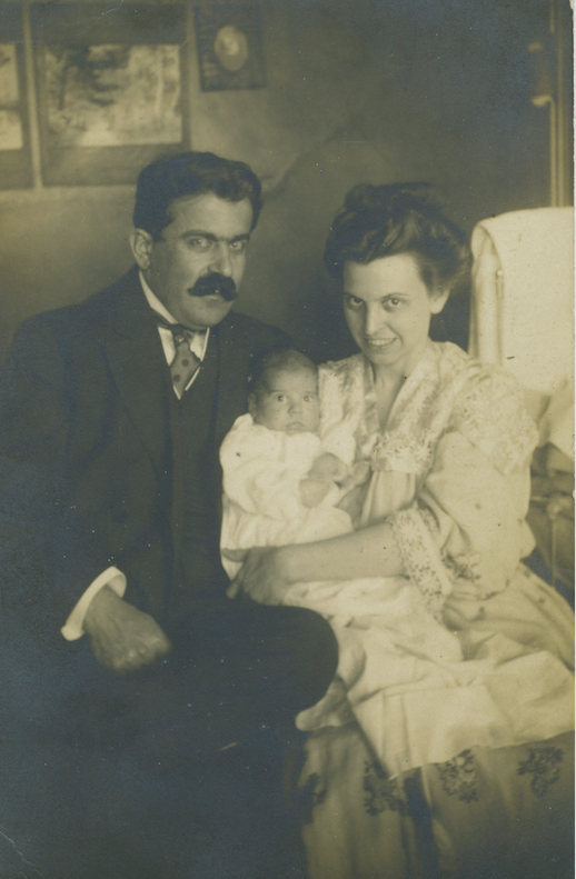 Gabriel, Mary, and Gabriel Jr. Kalil c.1910; Courtesy of Helen Samhan.