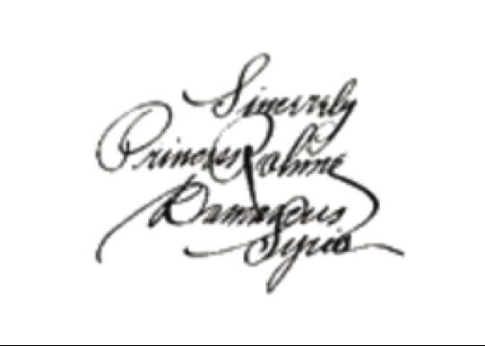 Figure 3: Princess Rahme Haidar's signature (Tatler 1926) [4].