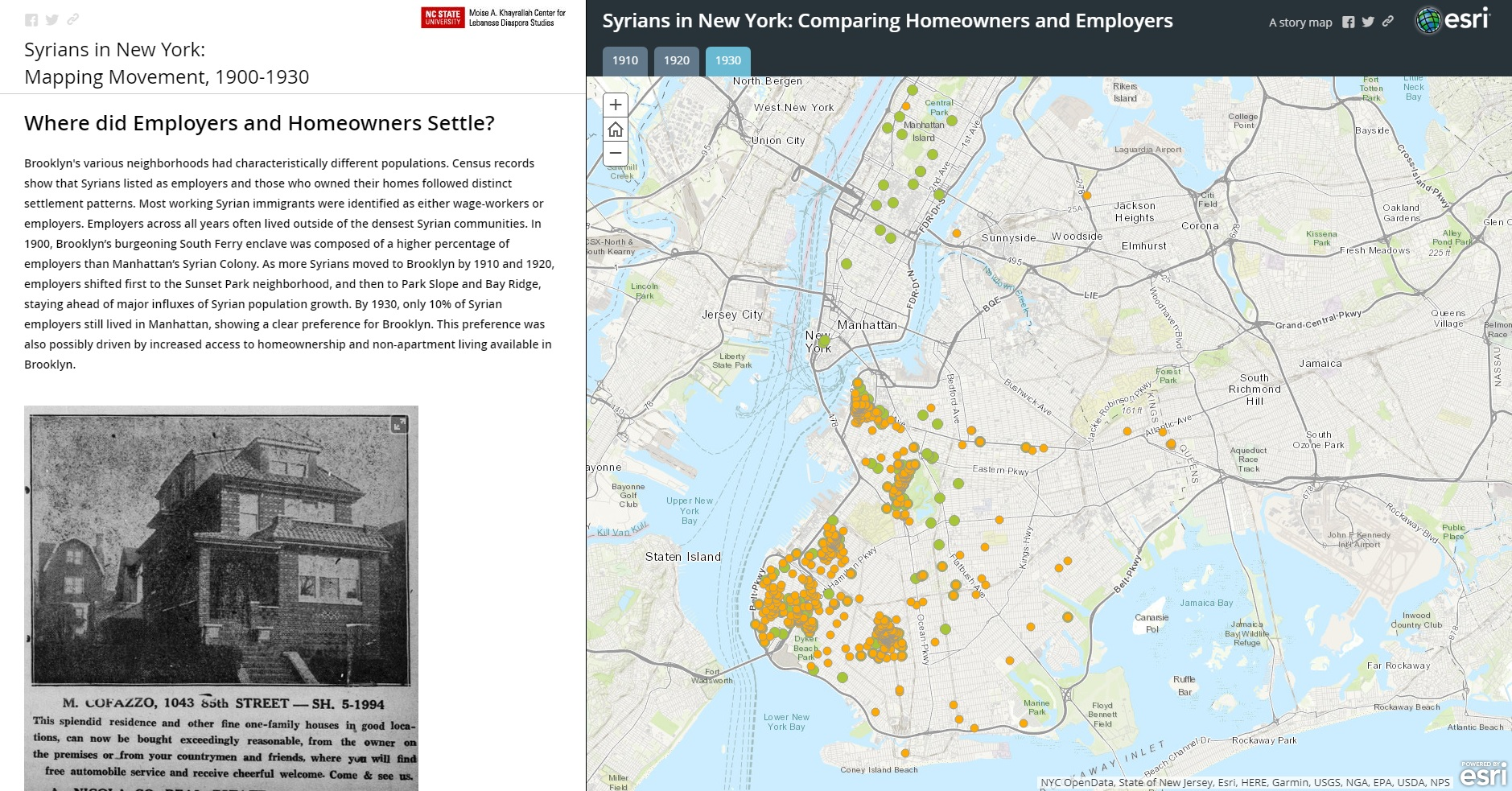 Debut Of Syrians In New York Mapping Movement 1900 1930 Moise A