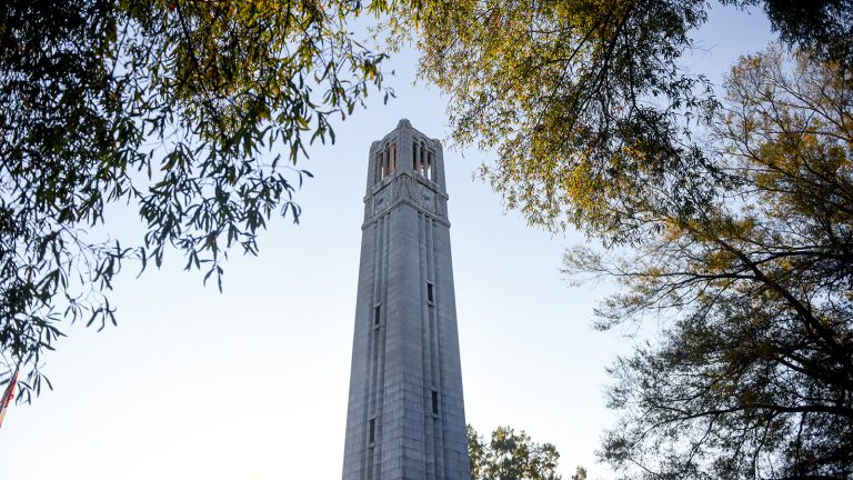 The NC State bell tower