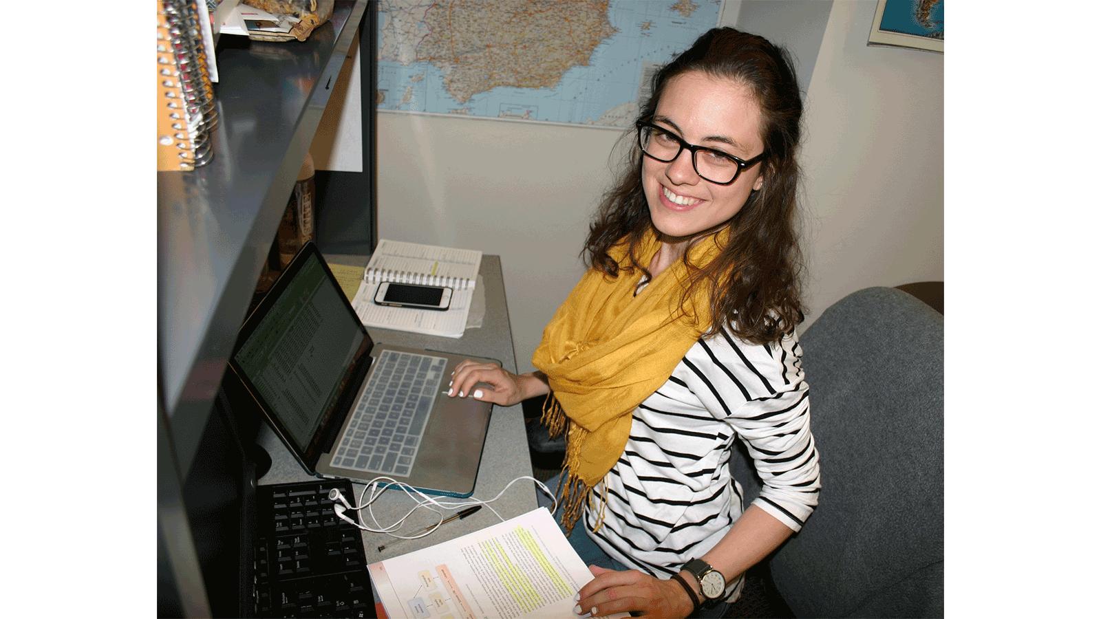 Lindsey Chandler at work