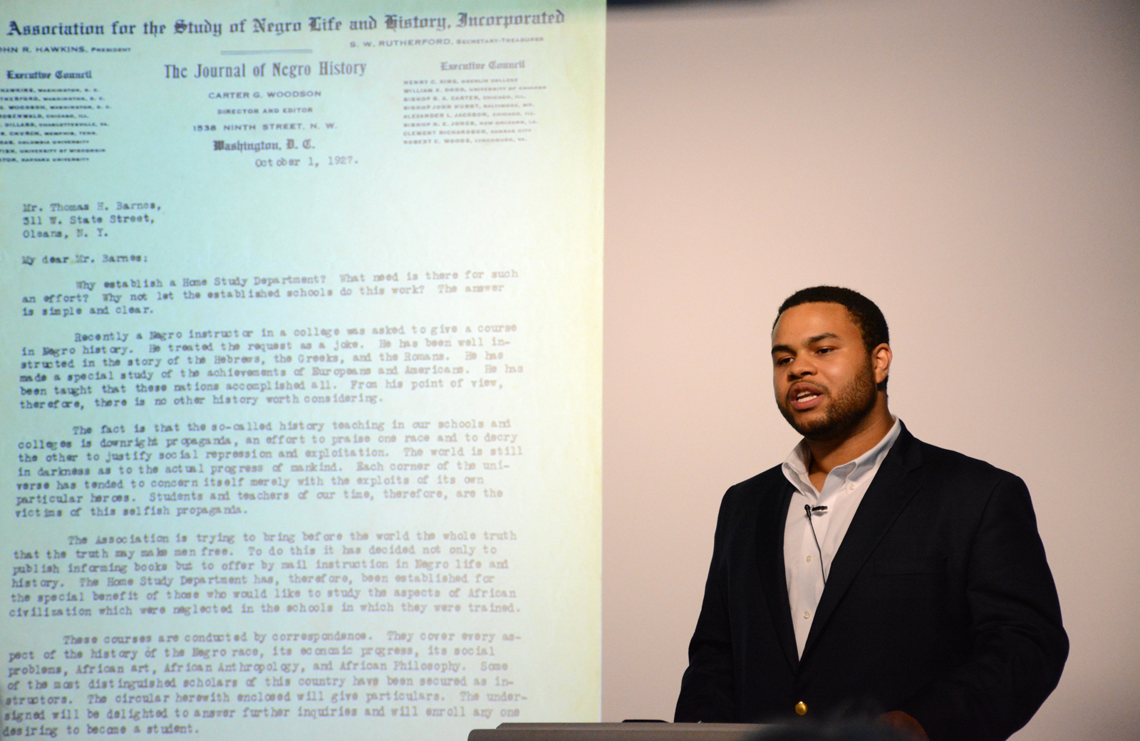 MALS Student Curates Pop-up Exhibit on Letters from African-American Leaders