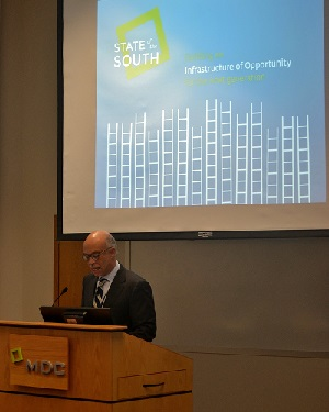 David Dodson speaking at the launch of the State of the South report in October 2014