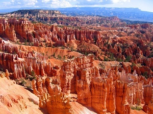 Bryce Canyon National Park, with its towering red rock formations filling the giant natural amphitheater, collected much-needed funds through Ruby's Inn's Dollar Check-Off Program that goes toward supporting special educational events, enhanced interpretive materials and other activities in the park. (PRNewsFoto/Ruby's Inn)