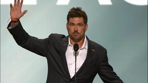 """Lone Survivor"" Marcus Luttrell delivered an emotional and hard-hitting speech last night at the Republican National Convention. (PRNewsFoto/Lone Survivor Foundation)"