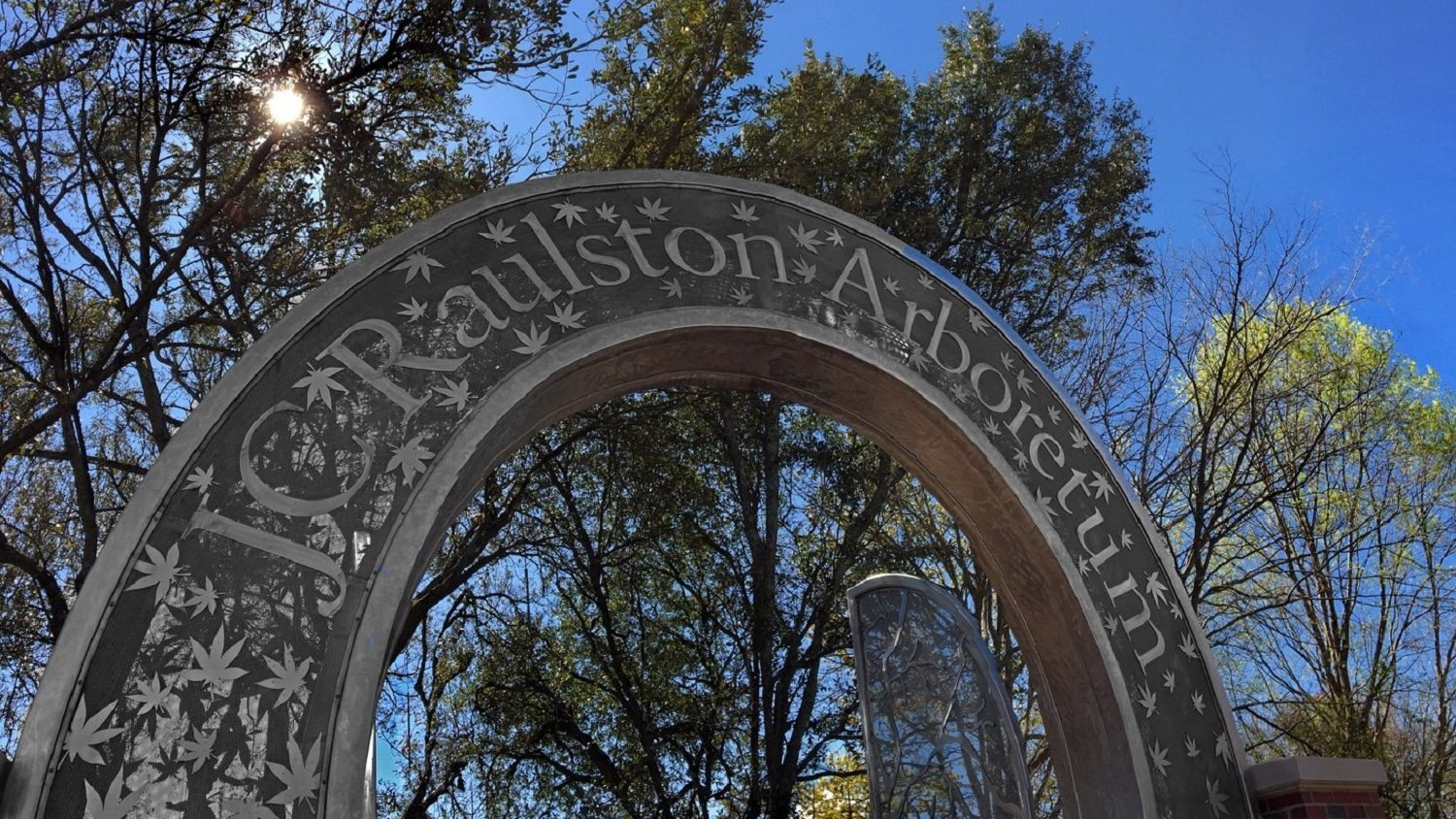 The arch of the JC Raulston Arboretum