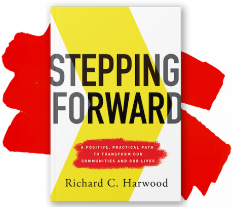 """Stepping Forward"" book cover"
