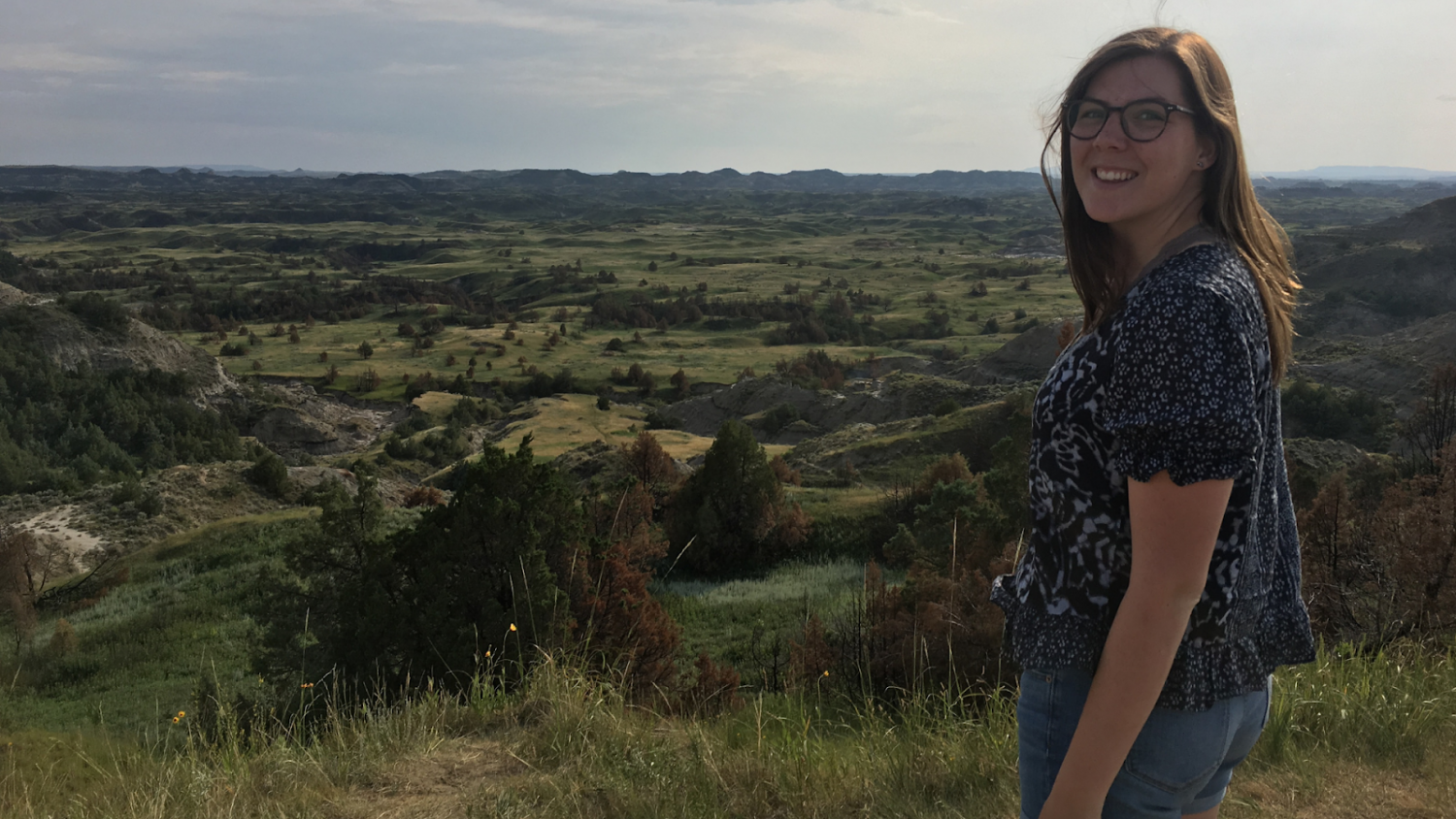 Jessica at Theodore Roosevelt National Park in North Dakota.