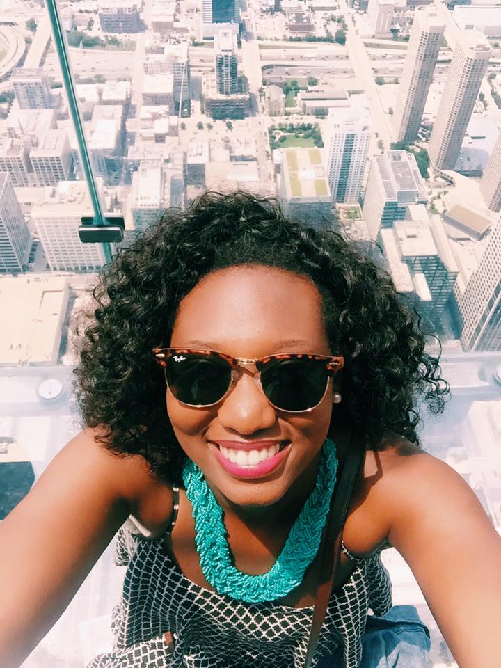 Hanging around the Skydeck in Chicago.
