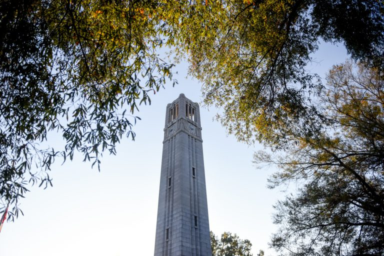 belltower surrounded by leaves