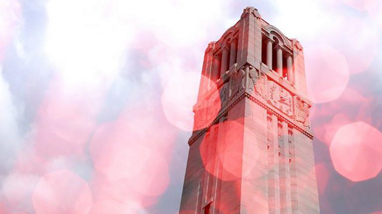 belltower with light spots