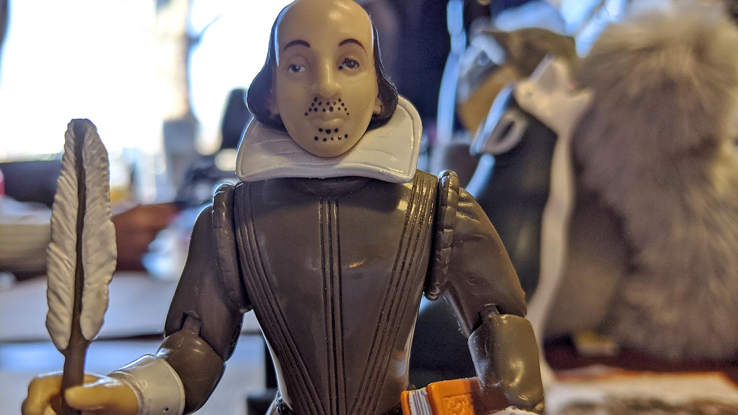 A Shakespeare figurine is pictured.