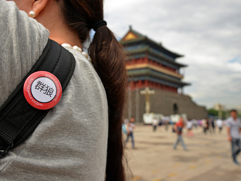 Study Abroad button in China.