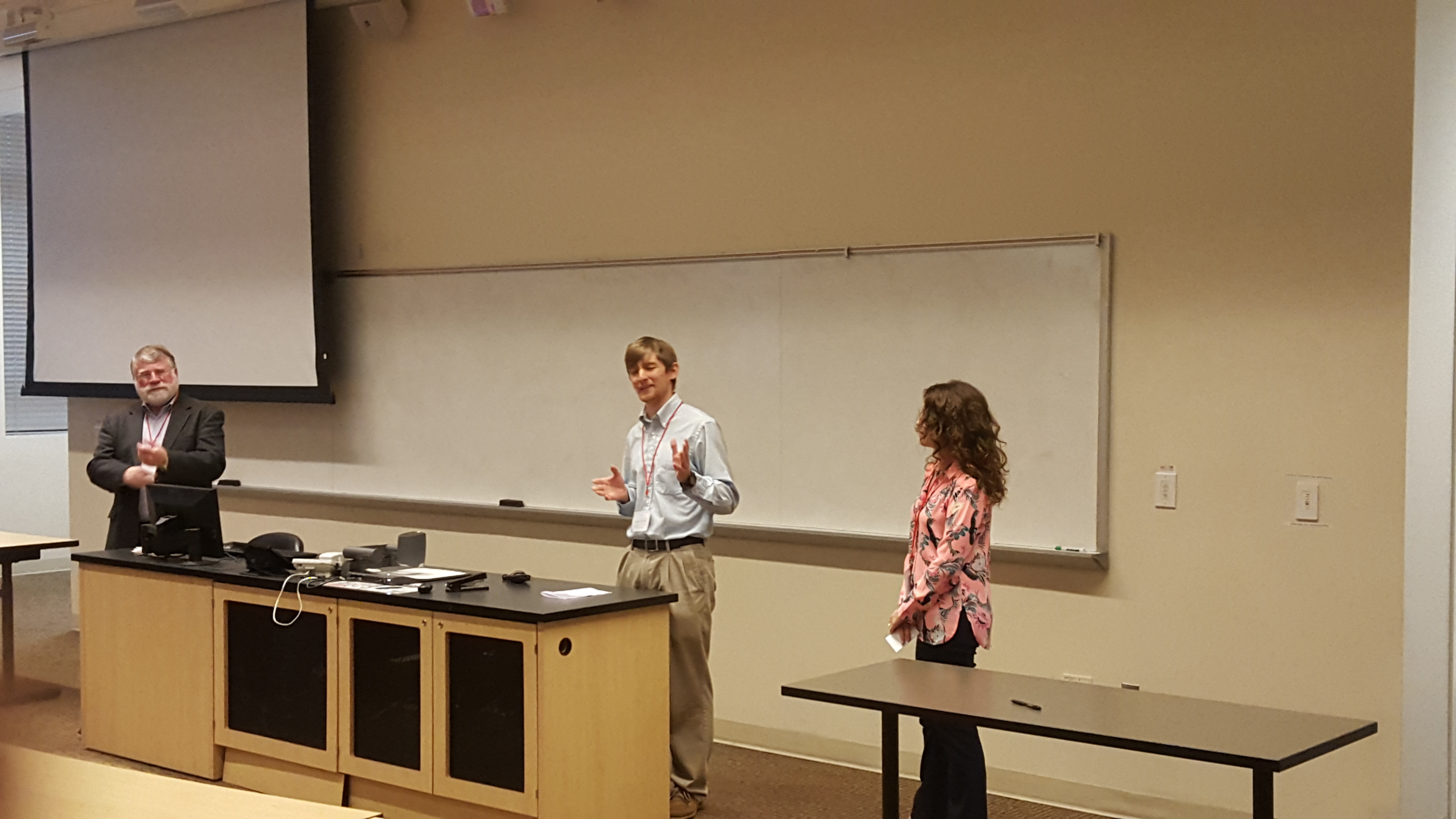HGSA co-presidents Andrew Benton and Sarah Soleim welcome conference guests