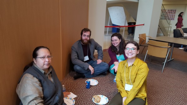 left to right: Dr. Judy Kertesz with graduate students Robert York, Claire Kempa, and Jordan Karlis