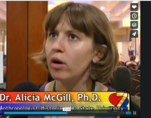 Dr. McGill is interviewed for evening news