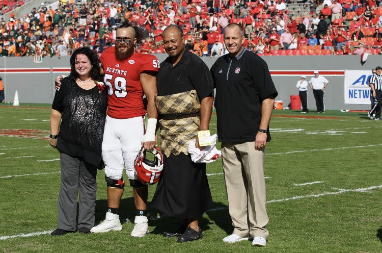 Sione, parents and coach