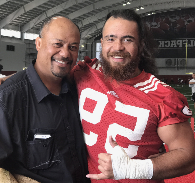 Sione and father