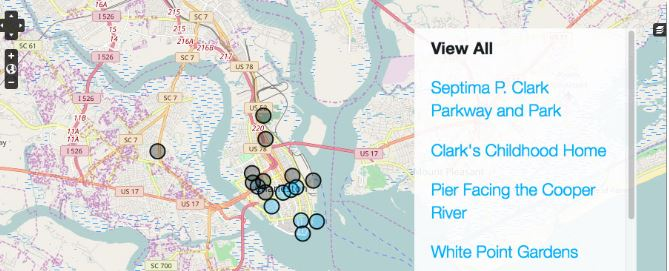 Digital Exhibit Maps Life, Work of Charleston's Septima P. Clark
